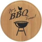 Leatherette Round Coaster -Bamboo Kitchen Gifts