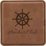 Leatherette Square Coaster -Dark Brown Kitchen Gifts