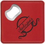 Leatherette Bottle Opener Coaster-Red Kitchen Gifts