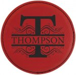 Leatherette Round Coaster-Red Kitchen Gifts
