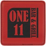 Leatherette Square Coaster-Red Kitchen Gifts