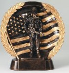 Resin Plate -Military Military Trophy Awards