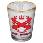 Clear Glass Shot Glass with Gold Rim Misc. Gift Awards