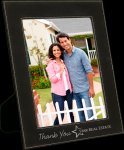 Leatherette Picture Frame -Black/Silver Misc. Gift Awards