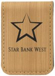 Leatherette Money Clip -Bamboo Misc. Gift Awards