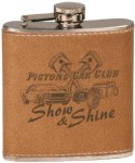 Leather Stainless Steel Flask Misc. Gift Awards