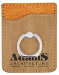 Leatherette Phone Wallet with Ring -Bamboo Misc. Gift Awards
