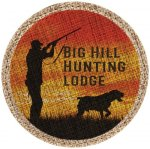 Full Color Round Burlap Coaster Misc. Gift Awards