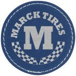 Leatherette Patch with Adhesive Back-Blue/Silver Misc. Gift Awards