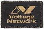 Leatherette Patch with Adhesive Back-Black/Gold Misc. Gift Awards