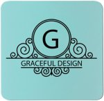 Square Silicone Coaster - Teal/Black Misc. Gift Awards