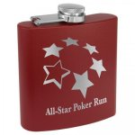 Powder Coated Stainless Steel Flask -Maroon Misc. Gift Awards