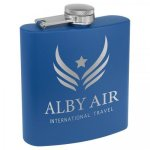 Powder Coated Stainless Steel Flask -Royal Blue Misc. Gift Awards