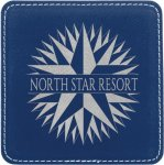 Leatherette Square Coaster -Blue/Silver Misc. Gift Awards