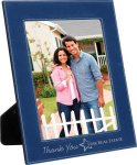 Leatherette Picture Frame -Blue/Silver Misc. Gift Awards