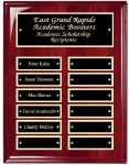 Perpetual Plaque Board with Heavy Lacquer Finish Monthly Perpetual Plaques
