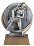 Motion X 3-D -Tennis Female Motion X Action 3D Resin Trophy Awards