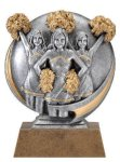 Motion X 3-D -Cheerleader Female Motion X Action 3D Resin Trophy Awards