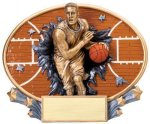 Motion X Oval -Basketball Male  Motion X Oval Resin Trophy Awards