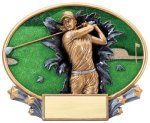 Motion X Oval -Golf Female Motion X Oval Resin Trophy Awards