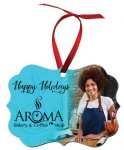 Full Color 2-Sided Benelux Ornament with Red Ribbon Ornaments