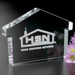 House Paperweight Paperweight Crystal Awards