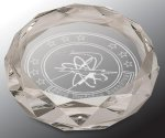 Faceted Round Crystal Paper Weight Paperweights