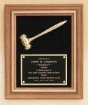 American Walnut Frame Gavel Plaque Patriotic Awards