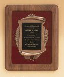 American Walnut Frame with Antique Bronze Casting Patriotic Awards