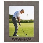 Leatherette Picture Frame -Gray Photo Gift Items