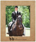 Leatherette Picture Frame -Light Brown Photo Gift Items