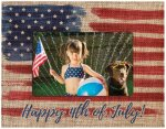 Full Color Burlap Picture Frame Photo Gift Items