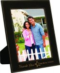 Leatherette Picture Frame -Black Photo Gift Items