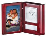 Rosewood Book Clock Photo Gift Items