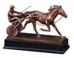 Race Horse and Sulky Racing Trophy Awards
