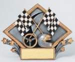 Resin Diamond Plate -Racing Racing Trophy Awards