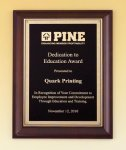 Cherry Finish Plaque Recognition Plaques