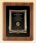 American Walnut Frame with Antique Bronze Casting Recognition Plaques