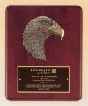 Antique Eagle Rosewood Piano Finish Plaque Recognition Plaques