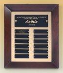 Cherry Finish Wood Frame Perpetual Plaque Religious Awards