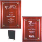 Rosewood Piano Finish Floating Plaque Sales Awards