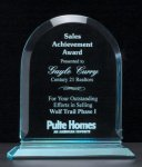 Arch Series Acrylic Award on Acrylic Base. Sales Awards