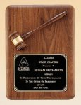 American Walnut Plaque with Walnut Gavel Sales Awards