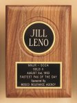 American Walnut Plaque with Routed Disk Area Sales Awards