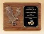 American Walnut Plaque with Eagle Casting Sales Awards