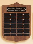 American Walnut Shield Perpetual Plaque Sales Awards