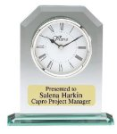Glass Desk Clock Secretary Gift Awards