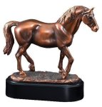 Lipizzaner Stallion Signature Black Resin Trophy Awards