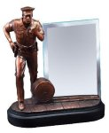 Policeman With Glass Signature Black Resin Trophy Awards