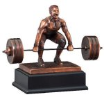 Deadlift Weightlifter Signature Black Resin Trophy Awards